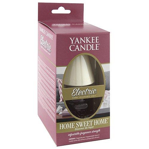 """YANKEE CANDLE 1071013E –Deodorante per Ambiente Elettrico con Spina, 1Pezzo, Ricarica """"Home Sweet Home"""", in plastica, Bianco, 8,6x 16,4x 9,9cm"""