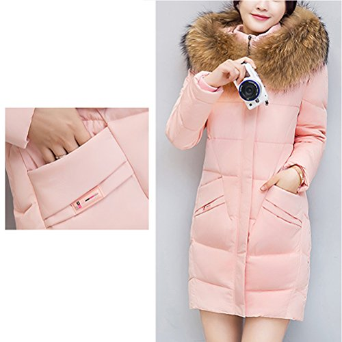 Big Long Outwear Collar Coats Zhuhaitf Jackets Mujer Lined Down Cotton Padded Womens para Rosa Ladies wqAPCPU1B