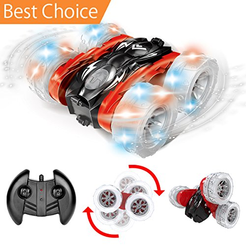 Maxxrace Rc Cars Stunt Car Toys  Remote Control Car Double Sided 360 Degree Rolling Spinning Tumbling With Bright Led Lights For Kids Birthday