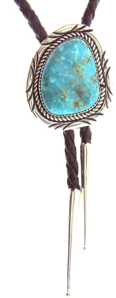 USA Handmade Beautiful Bolo Tie By Navajo Artist Mike Arviso
