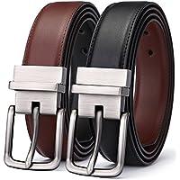 Men's Belt, Bulliant Genuine Leather Reversible Belt for Men 1.25