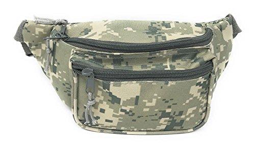 1015-Digital Camo Fanny Pack Purse Travel Pouch Money Passport ID Zipper Waist Belt Bag 3 Pockets from Unknown