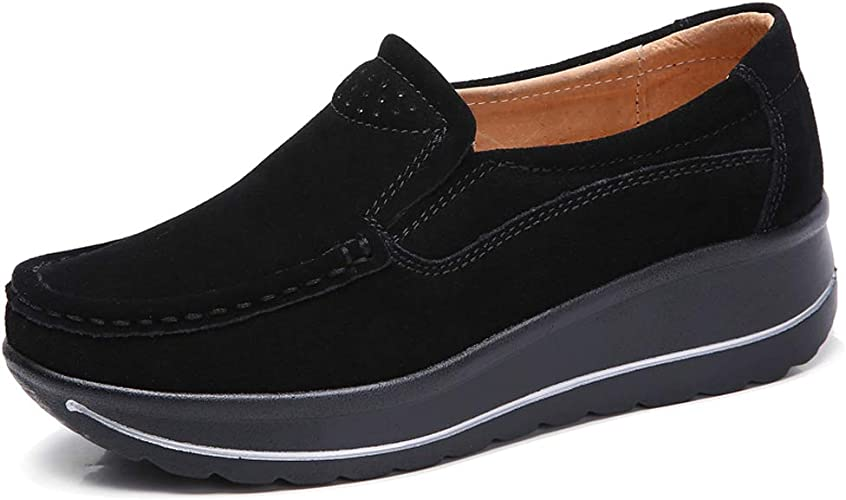 Ladies Moccasins Shoes Comfy Casual Work New Style Slip on Women Comfort Shoes