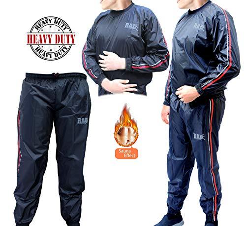 RAD Heavy Duty Sweat Suit Sauna Exercise Gym Suit Fitness