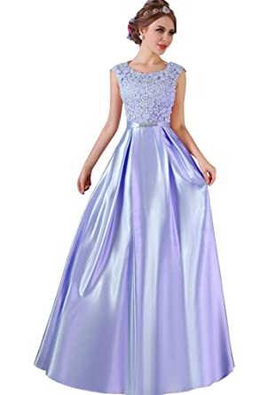 Eliffete Blue Wedding Gowns Lace Formal Prom Dresses Long 2018 for Women