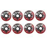 Rink Rat Wheels 76mm 78A Identity XX Red/Blk 8-Pack Inline Indoor Roller Hockey