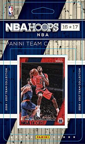 Washington Wizards 2016 2017 Hoops NBA Basketball Brand New Factory Sealed 10 Card NBA Licensed Team Set with John Wall Plus