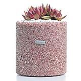 FLORASHOW Succulent Pots, Strawberry QuartzMaterials7.28 inch SucculentPlanter Pot, Ultra-Breathable, Water-Permeable Suitable for All House Plants, Succulents, Cactus, Flowers, Herbs and More