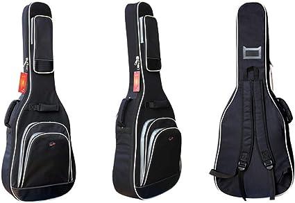 YXIAOn Estuche para guitarra de 41,42 pulgadas Acústica y clásica Estuche para guitarra, con funda extraíble y esponja extra gruesa, de 12 mm Estuche para guitarra, suave y resistente, con doble corre: