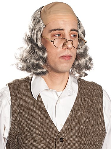 Enigma Wigs Men's Mr.Ben Wig, Grey, One Size]()