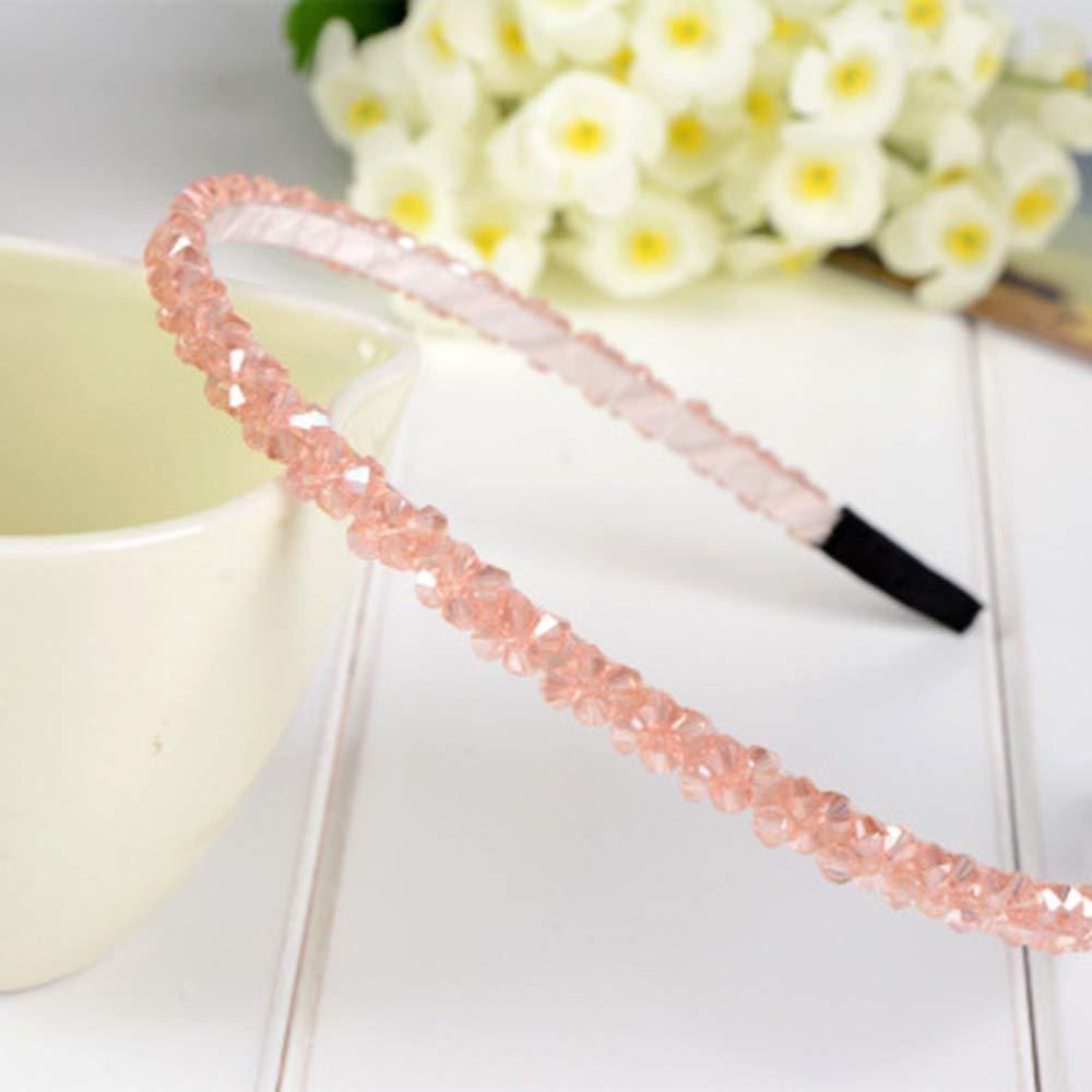 LABIUO 6 Couleurs Bandeau Femme D/écoration Bijoux Cristal Perle Paillettes Serre-t/ête Femme Fille Bandeaux Cheveux Accessoire pour F/ête de Mariage