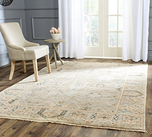 Safavieh Oushak Collection OSH561B Hand-Knotted Grey and Ivory Wool Area Rug (8' x 10')