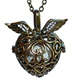 YOur perSOnal STYlish Essential oil necklace Steampunk Golden heart d2 0