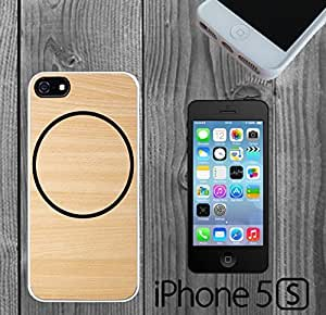 Cicrle Wood Custom made Case/Cover/skin FOR iPhone 5/5s