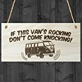 Red Ocean If This Vans Rocking Dont Come Knocking Novelty VW Campervan Wooden Hanging Plaque Sign Gift by Red Ocean