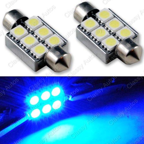 Classy Autos 36mm Error Free CANBUS BLUE LED Bulbs 6411 / 6418 Festoon Dome Map Light (A PAIR)