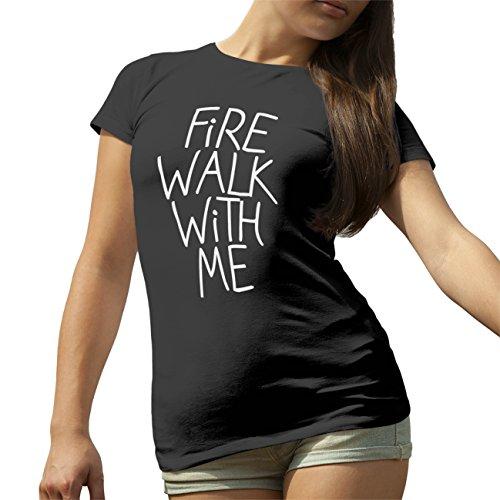Fire Walk Walk With Me Twin Peaks Sieries T-Shirt camiseta para la Mujer Negro