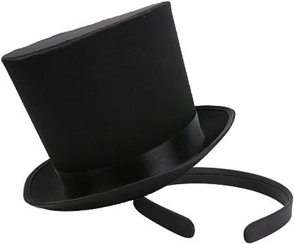 B Blesiya Ladies Women Party Mini Top Hat With Black Headband