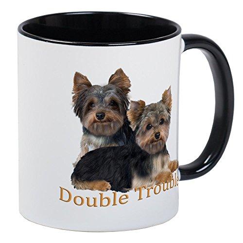 - CafePress Yorkie Double Trouble Mug Unique Coffee Mug, Coffee Cup