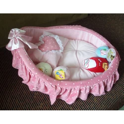 Colorfulhouse Princess Cradle Pet Bed + Removable Pet Mat + Cute Pillow well-wreapped
