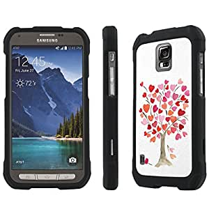 NakedShield AT&T Samsung Galaxy Active [ S5 ] (Tree of Love) Total Hard Armor Purple LifeStyle Phone Case
