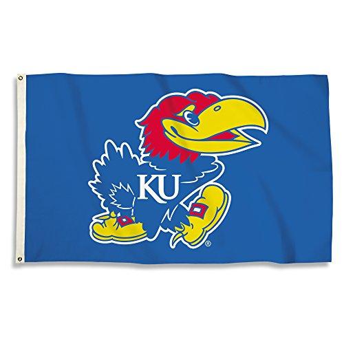 NCAA Kansas Jayhawks Unisex NCAA 3 X 5 Foot Flag with Grommets, Royal, One Size