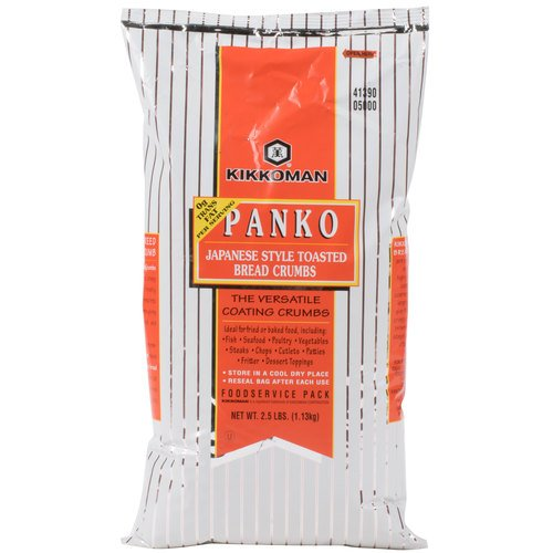 Kikkoman Panko Japanese Style Toasted Bread Crumbs Food Service Pack 2.5 lbs (1.13 kg)