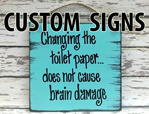 - CUSTOM PERSONALIZED Wood Reclaimed Wall Sign 8X9 Distressed Wood Wall Sign *Blue, Antique Cream White, Tan Brown *Customize your own saying! *Make a perfect gift for someone special!