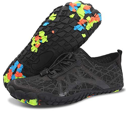 Centipede Demon Quick Dry Water Shoes Barefoot for Mens Swim Diving Surf Sports Pool Beach for Men Black Women 9.5 M/Men 7.5 M