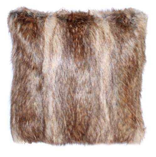Faux Fur Pillow Cover Canadian Fox Honey 18 X 18 in - Set of
