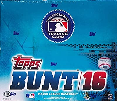 2016 Topps Bunt Baseball Hobby Box (36 Packs of 7 Cards - 13 Loot Cards and 18 Inserts)