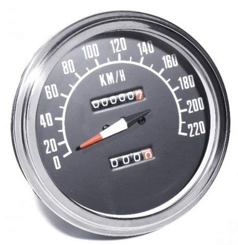 95 Tacho KM//H 2:1 f/ür Harley Davidson Shovel Flh Fx Evo Wla Fat Bob
