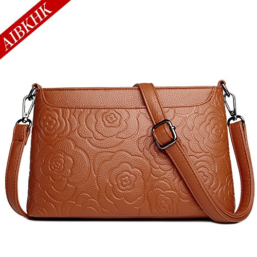 fashion print Satchel Retro GMYAN Simple Bag yellow mom Leather pack qFUFX