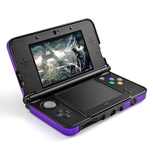 TNP 3DS XL LL Case (Purple) - Full Body Protective Snap-on Hard Shell Aluminium Plastic Skin Cover for Nintendo 3DS XL LL 2012 Original Model