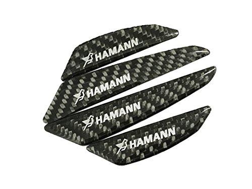 Pimall- The Little Brid Black Carbon Fiber CFRP Vehicle Car Side Door Edge Protection Tirm Guard Sticker for Hamann (Hamann Carbon)
