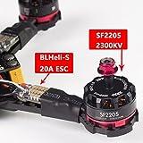 SunFounder SFX190 190mm FPV Racing Drone Quadcopter Kit BLHeli-S 20A ESC 2205 2300KV Motor 70C 1300mAh 14.8V 4S Li-Po battery F3 Flight Controller Cleanflight or Betaflight Flysky FS-i6X (Assembled)