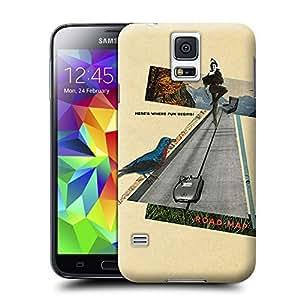Unique Phone Case Heres Where Fun Beging Road Map Sammy Slabbinck retro nostalgic collage design Hard Cover for samsung galaxy s5 cases-buythecase
