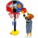 Basketball Hoop Kids Adjustable, Kingfansion Children's Sports Toy Easy Score Basketball Set
