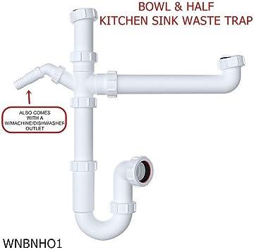 Set de tuberías para el desagüe del fregadero de la cocina, 40 mm ...