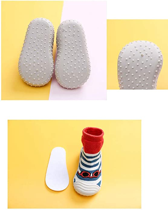 Du/šial Baby Sock Shoes First Walking Shoes Soft Breathable Comfortable Transparent Stripes Baby Toddler Walk Learning Socks Shoes for Home