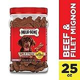 Milk-Bone Soft & Chewy Beef & Filet Mignon Recipe Dog Snacks, 25 Ounces