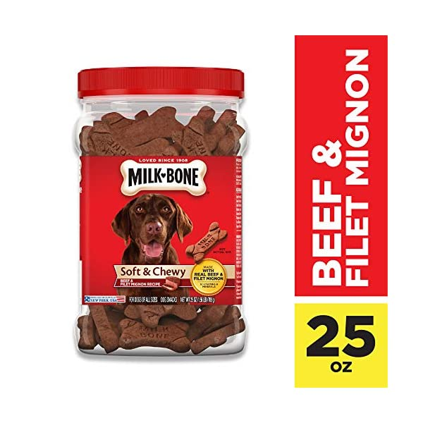 Milk-Bone Soft & Chewy Dog Treats with 12 Vitamins and Minerals 1