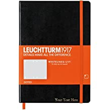 Customized Leuchtturm1917 Whitelines Link Black Color Notebook - Dotted Pages