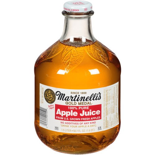 Martinelli's Gold Medal 100% Pure Apple Juice, 50.7 fl oz (Pack of (Pure Apple Juice)