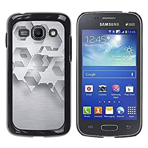 Jordan Colourful Shop - Abstract Minimalist White Polygon For Samsung Galaxy Ace 3 Custom black plastic Case Cover