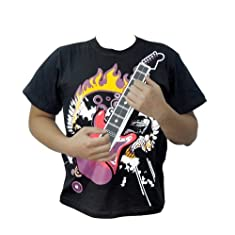 KADA(TM)Newest Fashion 12 Major Chords Electric Rock Guitar T-shirt and Amplifier Combination Set
