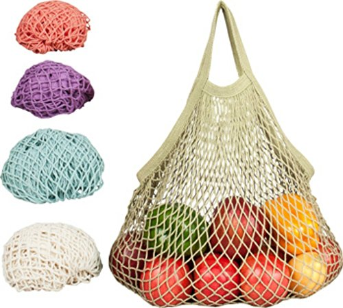 (ECOBAGS Reusable Pastel Grocery Bags - 5 ct)