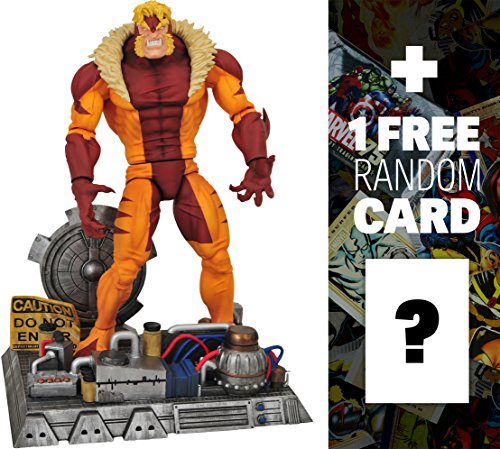 Sabretooth: Marvel Select x Diamond Select Action Figure + 1 FREE Official Marvel Trading Card Bundle