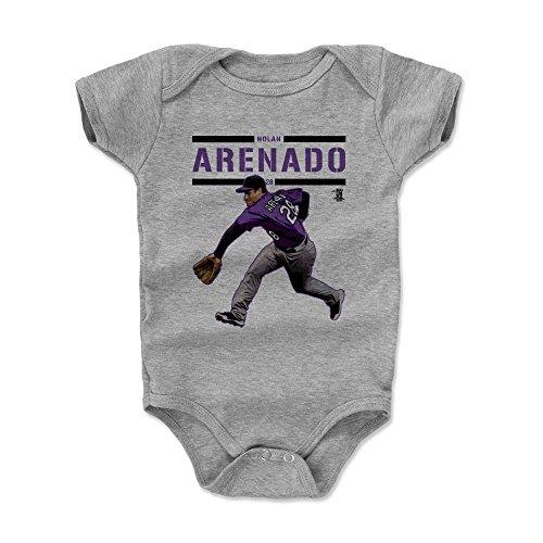 500 LEVEL Nolan Arenado Baby Clothes, Onesie, Creeper, Bodysuit 3-6 Months Heather Gray - Colorado Baseball Baby Clothes - Nolan Arenado Play P