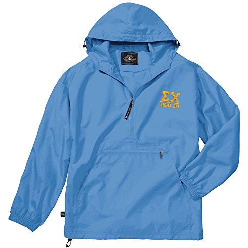 Greekgear Sigma Chi Pack-N-Go Pullover Small Columbia Blue